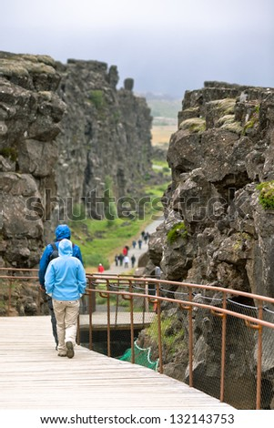 Pingvellir national park - The area is located on the Mid-Atlantic ridge, where the continents of Europe and America drift apart causing earthquakes and volcanic activity.