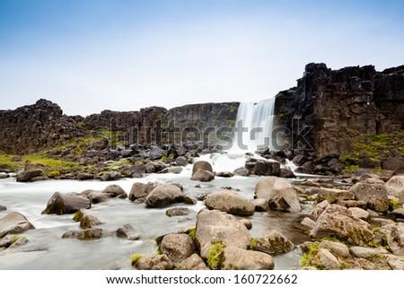 Pingvellir waterfall