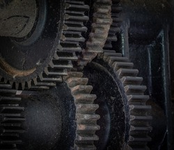 Pinion gear of the vintage mechanism