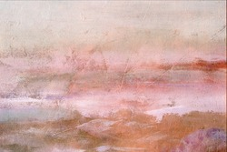 Pink abstract painting grunge background or texture