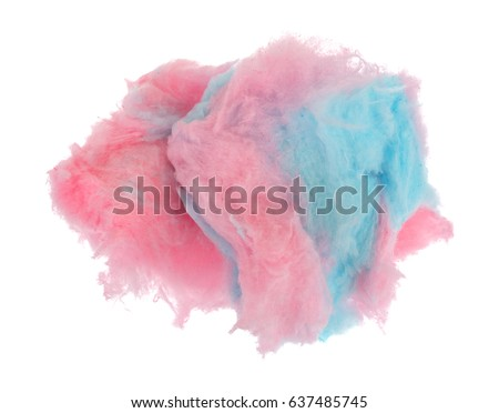 Pink and blue cotton candy isolated on a white background. #637485745