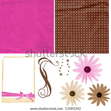 Scrapbooking Pink Flowers Pink And Chocolate Scrapbook
