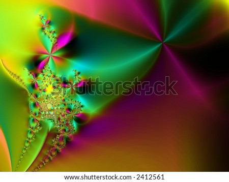 Pink and green romantic abstract