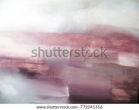 Pink and Grey Abstract Art Painting. Modern art