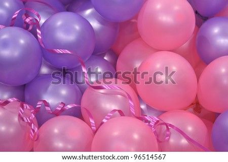 Pink And Purple Balloons Stock Photo 96514567 : Shutterstock