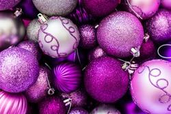 Pink and Purple Christmas Ball Ornaments