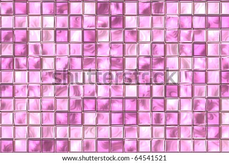 Pink And Purple Color Tiles At Bathroom Wall. Stock Photo 64541521 ...