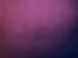 Pink and purple gradient colored grungy canvas backdrop or texture