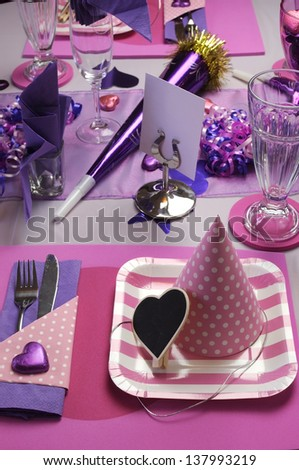 The Busy Bee Events & Design |Pink And Purple Table Setting