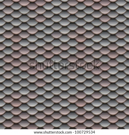 Pink and Silver Scales Seamless Pattern Illustration