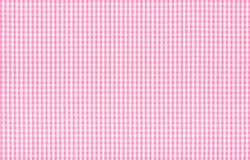Pink and white checkered fabric