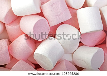 Pink and White Marshmallow background.
