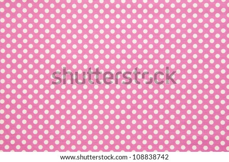 Pink and white  spot pattern can be used for background.