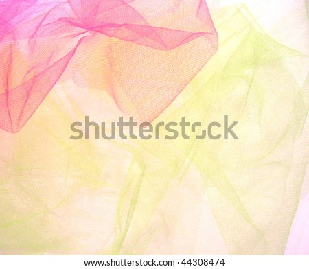 Pink and yellow-lime tulle background.