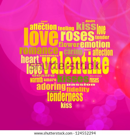 Pink and Yellow Valentin's Day Text Background Illustration