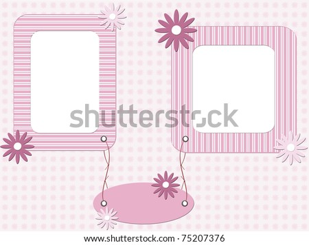 Baby Girl Picture Frames on Pink Baby Girl Photo Frame   75207376   Shutterstock