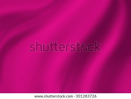 pink background abstract cloth illustration. Wavy folds of silk texture satin or velvet material. Elegant curves of luxury pink material.