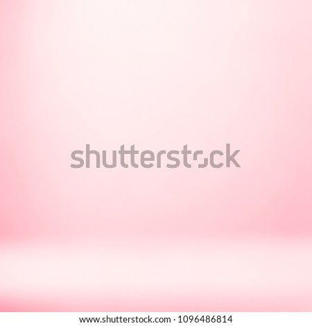 Pink background backdrop product. Colorful showcase studio display room with empty space abstract template blurred light spotlight white gradient texture.
