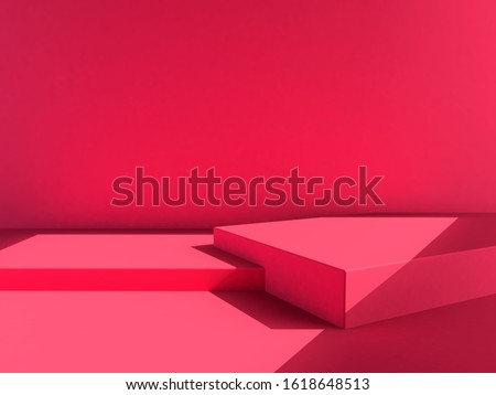 pink background, pink backdrop, scene, chinese new year, valentine, love mood heart tone. 3d rendering wallpaper studio set stock photo