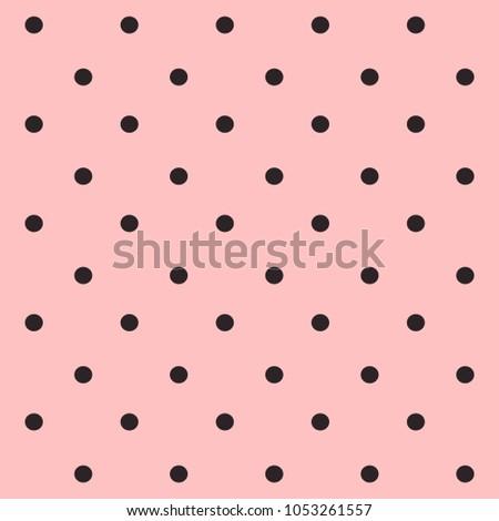 Stock Photo pink background. Seamless polka dot pattern