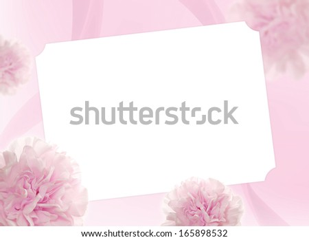 Pink background with note card