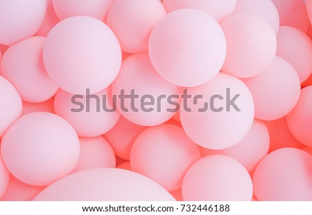 Pink balloons, bunny balloon, pink bubbles beautiful birthday texture #732446188