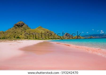Pink Beach Padar Island Komodo Flores Indonesia
