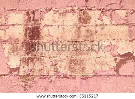 Pink blocks with pealing paint and space for your text