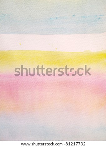 Pink Blue & Yellow Pastel Watercolor Background 6