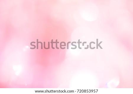 Pink bokeh light background. - Shutterstock ID 720853957