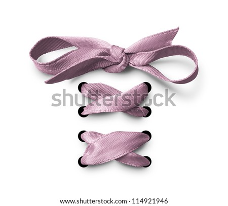 Pink  bow tied up
