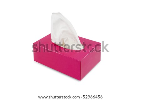 Pink box of handkerchief