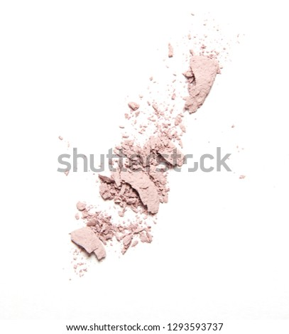 pink broken blush and eyeshadow isolated on white background #1293593737