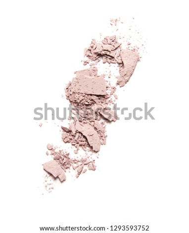 pink broken blush and eyeshadow isolated on white background #1293593752