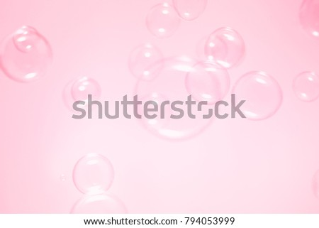 Pink bubbles floating background