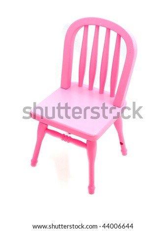 Pink chair isolated on white