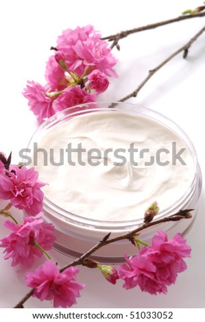 pink cherry with cream