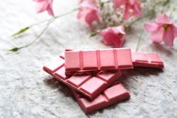 Pink chocolate. Ruby chocolate.