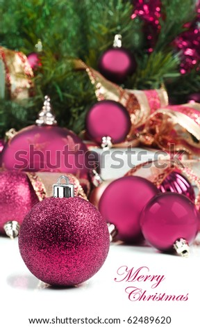 Prime Pink Christmas Decorations Under A Christmas Tree In Low Light Easy Diy Christmas Decorations Tissureus