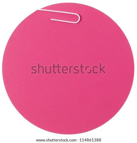 Pink circle blank label