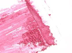 Pink close up crushed make up eye shadow on white