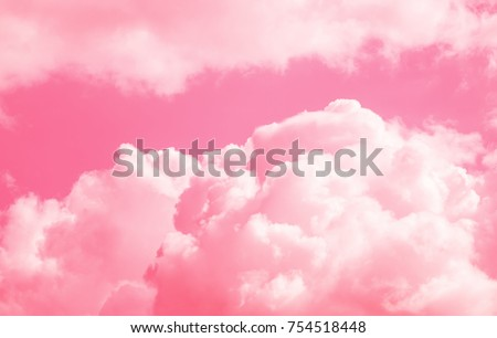 pink clouds and sky for background Abstract,postcard nature art pastel style,soft and blur focus.