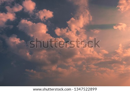 pink cloudscape as abstract natural background #1347522899