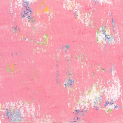 Pink color abstract art background. Acrylic paste on watercolor paper.