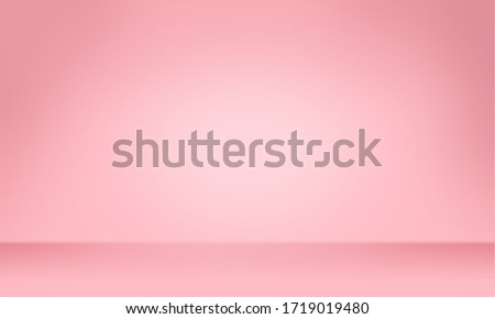 Pink color background, Color gradation, Pink wallpaper. 3D rendering. Foto d'archivio ©