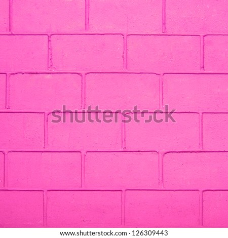 pink color brick wall