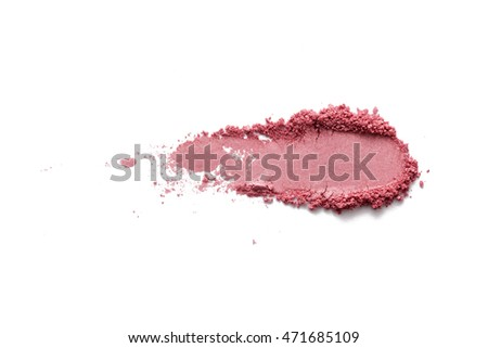 Pink color cosmetic powder on background #471685109
