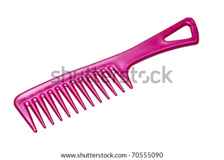 pink comb, isolated