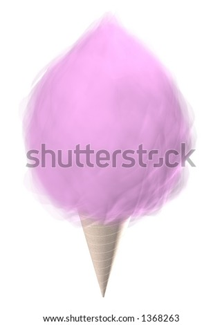 Pink Cotton Candy 3D Render