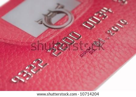 Pink credit card